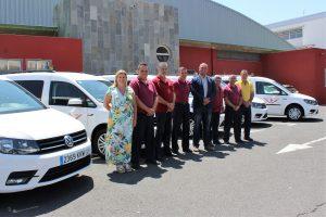 Cinco nuevos vehículos adaptados se incorporan al servicio del taxi en el municipio Granadilla de Abona